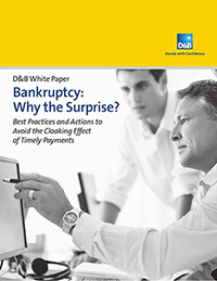 cover of 'bankruptcy why the surprise' document